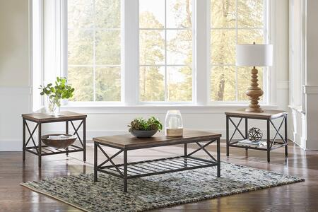 Brendon Collection 21083 3-Piece Living Room Table Set with Coffee Table and 2 End Tables in