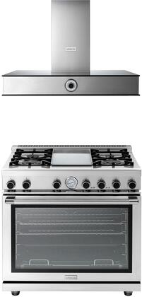 2-Piece Stainless Steel Kitchen Package with RN362GPSS 36 inch  Freestanding Natural Gas Range