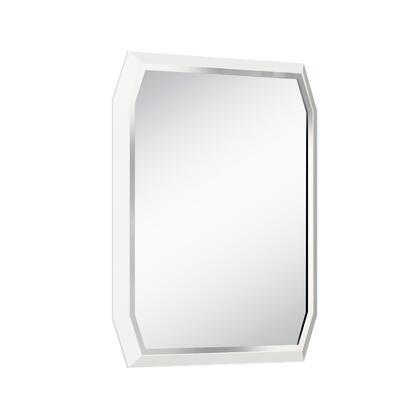 MR1224-WHT Angulatus Mirror  high gloss white and stainless