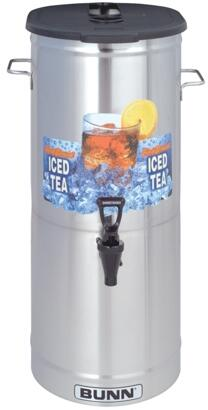 34100.0003 TDO-5 Cylinder Style Iced Tea and Coffee Dispenser With Brew-Through Lid  Faucet Handle  Sump Dispense Valve  in