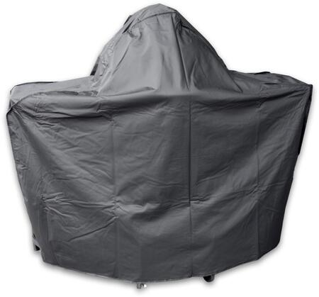 Grill Cover for On-Cart with Round Shelf Kamado