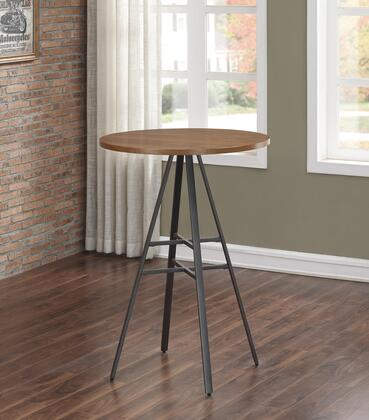Stockton Collection P1-101 42 inch  High Pub Table with Engineered Wood and Oak Veneers Top  Adjustable Leg Leveler and Powder Coated Finish in Slate