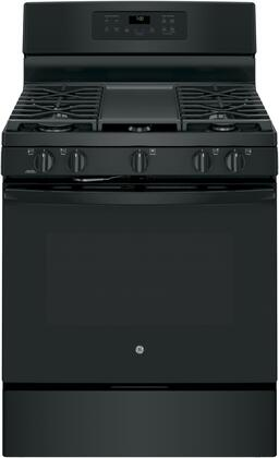JGB700DEJBB 30 Star K Certified Freestanding Gas Range with 5 cu. ft. Convection Oven  Edge-to-Edge Cooktop with 5 Burners  Self-Clean with Steam
