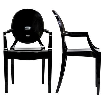 Eei-905-blk Casper Dining Armchairs Set Of 2 In Black