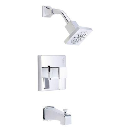 D500033T Reef 1-Handle Pressure Balance Tub and Shower Faucet Trim Kit in Chrome
