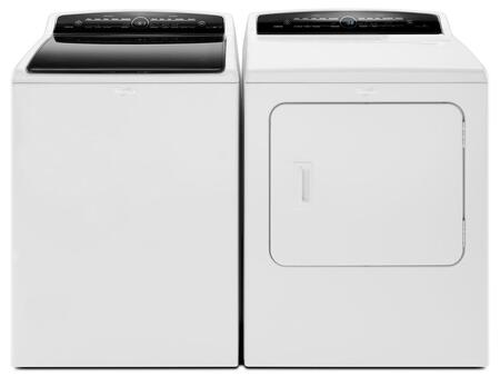 "Cabrio White Top Load Laundry Pair with WTW7300DW 27.5"""" High-Efficiency Washer and WGD7300DW 29"""" High-Efficiency Gas Steam"" 443703"