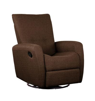 D85998MLR06 Brown Reclining Glider with Swivel -