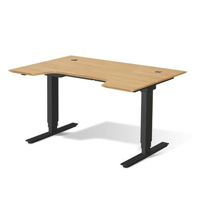 Sit Stand Collection 76432-WAL 65 inch  Electric Desk with Adjustable Height  Silent Motor  Levelers  Vacuumed Sealed MDF Materials and Open Grain Finish in