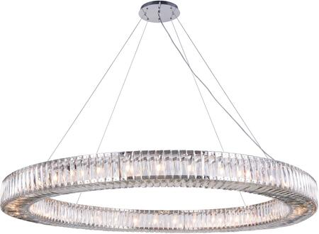 2116G63C/RC 2116 Cuvette Collection Chandelier D:63In H:4.9In Lt:36 Chrome Finish (Royal Cut