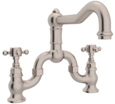 A1420XMSTN-2 Italian Country Kitchen Collection Deck Mounted Column Spout Kitchen Faucet with 9