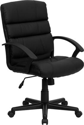 Click here for GO-1004-BK-LEA-GG Mid-Back Black Leather Office prices