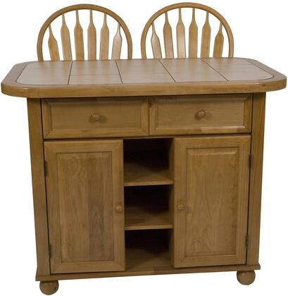 Sunset Trading Cy-kitt02-bch Distressed Antique Black Kitchen Island With Cherry Top
