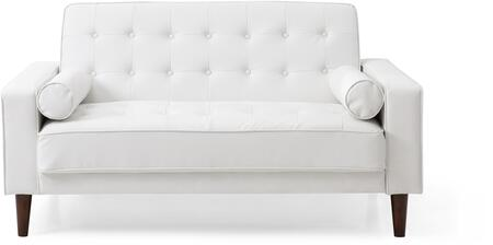 Navi Collection G847A-L 60 inch  Sleeper Loveseat with 2 Bolster Pillows  Tapered Wood Legs  Track Arms  Button Tufted Cushions  Heavy Duty Springs and Faux Leather
