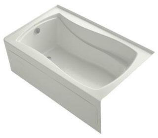 K-1242-LAW-NY Dune 60x36x20 Alcove Apron-Front Acrylic Soaking Bath Tub With Bask Heated Surface  Tile Flange And Left