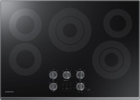 """NZ30K6330RG 30"""" Electric Cooktop with 5 Elements  Rapid Boil  Illuminated Knobs and Wifi  in Black Stainless"""