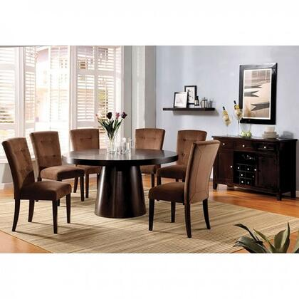 Havana Collection CM3849TDT6SC 7-Piece Dining Room Set with 60