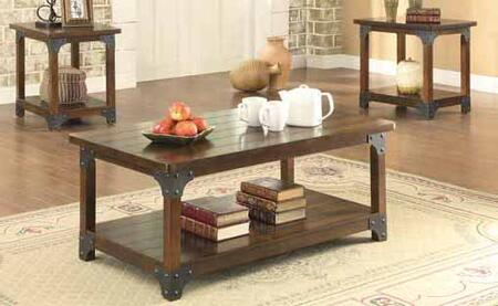 703587 3-Piece Occasional Table Set with Coffee Table and 2x End Tables in Tobacco