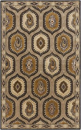 A173-3353 33 X 53 Rectangular Ancient Treasures Ink Handmade Area Rug Made With 100% Semi-worsted New Zealand Wool And Made In