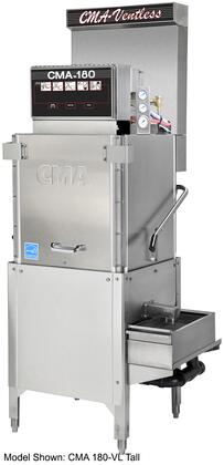 CMA-180-VL 26 inch  Energy Mizer Energy Star Commercial 3-Door High Temperature Dishwasher with 40 Racks/Hour Operation Capacity  12kw Booster Heater  6kw Wash Tank