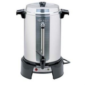 West Bend 13500 Coffee Urn - 1500 W - 55 Cup(s) - Aluminum