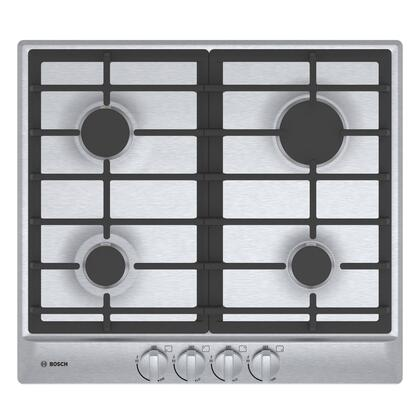 Bosch NGM5456UC 500 Series 24 Inch Natural Gas Cooktop with 4 Sealed Burners, ADA Compliant, in Stainless Steel