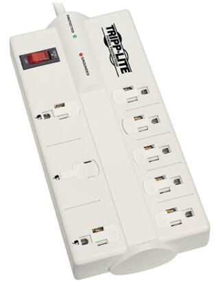 Tripp Lite Protect It! 8-Outlet Surge Protector Light Gray TLP808