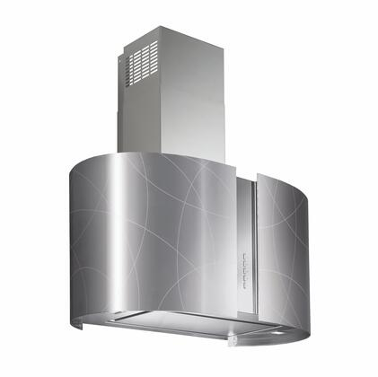 WL27MURSPACE 27 inch  Murano Space Wall Range Hood with Halogen Lighting  4 Speed Electronic Controls  Delayed Shut-Off  Filter Cleaning Reminder  in Stainless