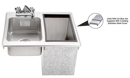 D-24-SIBL-X Drop-In Water Station with Ice Bin and Deck Mount Faucet in Stainless Steel  21