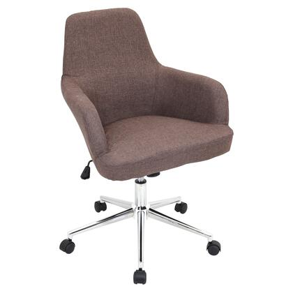 OFC-AC-DGR BN Degree Height Adjustable Office Chair with Swivel in