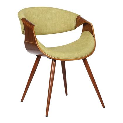 Butterfly Collection LCBUCHWAGR Dining Chair with Mid-Century Style  Curved Backrest  Walnut Veneer Wood Frame  Tapered Legs and Polyester Fabric Upholstery in