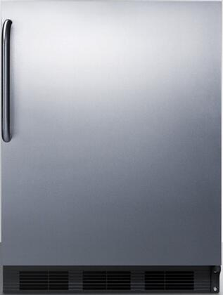 CT66BSSTB 24 inch  5.1 cu.ft. Capacity Compact Refrigerator-Freezers with Cycle Defrost  Zero Degree Freezer  Glass Shelves  Dual Evaporator  Adjustable Thermostat