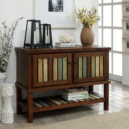 Beverly CM-AC6445 Hallway Cabinet with Country Style  Storage Cabinet  Slatted Shelves  Solid Wood/Wood Veneer/Others in Brown