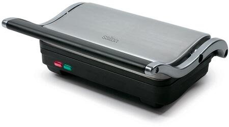 SG1263 Panini Grill with 1000 Watts  Floating Hinge  Non Stick Grill Plate and 70 sq. in. Grilling Surface in Stainless
