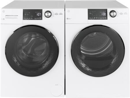 Front load Compact GFW148SSMWW 24 Washer with GFD14ESSNWW 24 Electric Dryer Laundry Pair  in