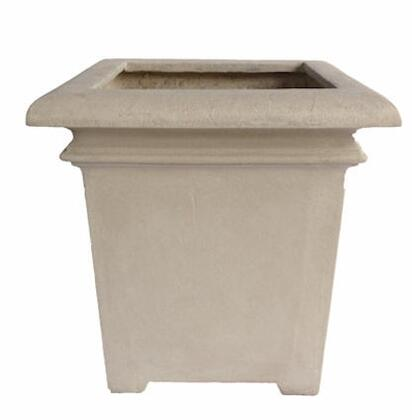 Palace Collection PL-S6161 24 Square Planter with Cast Limestone Construction and Classical Design in Natural