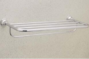 CIS10STN  Cisal Bath Hotel Style Towel Shelf: Satin