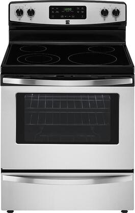 94173 30 Freestanding Electric Range with 5.3 cu. ft. Oven Capacity  4 Elements  Self Cleaning Oven and Storage Drawer in Stainless