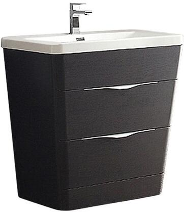 Milano Collection FCB8532CN-I 32 inch  Single Vanity with Integrated Acrylic Sink  2 Soft Closing Drawers and Tapered Shaped in