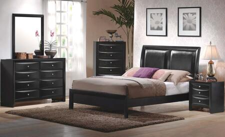 Briana 200701kwdmn 4-piece Bedroom Set With California King Platform Bed  Dresser  Mirror And Nightstand In