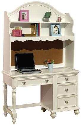 Athena 30014SET 2 PC Desk and Hutch Set in White