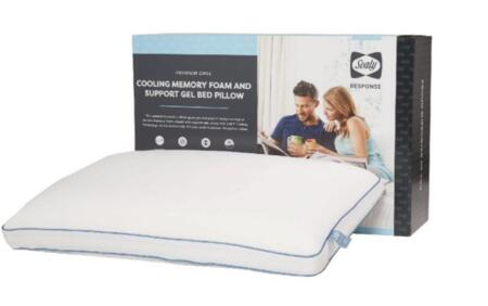 Sealy Response Collection F01-00410-ST2/PAK4 Pack of 4 Standard Size Cooling Memory Foam and Support Gel Pillow with Chill Cooling Technology  Chill Response