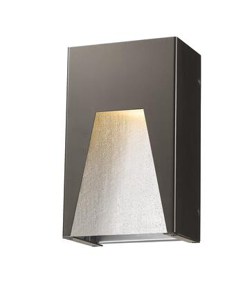 Millenial 561S-DBZ-SL-SDY-LED 6 1 Light Outdoor Wall Light Contemporary  Metropolitan  Modernhave Aluminum Frame with Bronze Silver finish in Clear