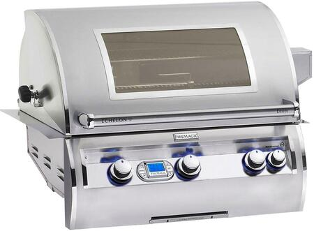 E660I412NW Echelon Diamond Series Built In Natural Gas Grill with 660 sq. in. Cooking Area  3 E Burners  Double Wall Seamless 304 Stainless Steel Hood  and