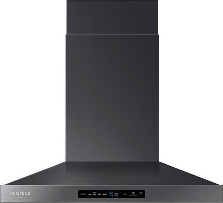 "NK30K7000WG 30"" Wall Mounted Range Hood with 600 CFM  LED Lighting  Baffle Filters and Wifi Hood Connectivity  in Black Stainless"