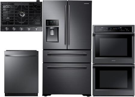 4 Piece Kitchen Appliance Package with RF30KMEDBSG 36