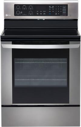 LG LRE3061ST 6.3 Cu Ft Stainless Steel Electric Single Oven Range