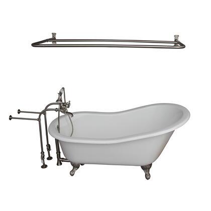 TKCTSN60-SN6 Tub Kit 60 CI Slipper  Shower Rd  Filler  Supplies  Drain-Brush