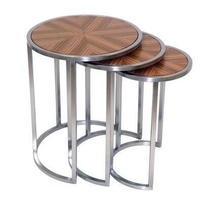20904-02-CD 23x23x16 Greta Nesting End Tables in Satin Nickel Metal &