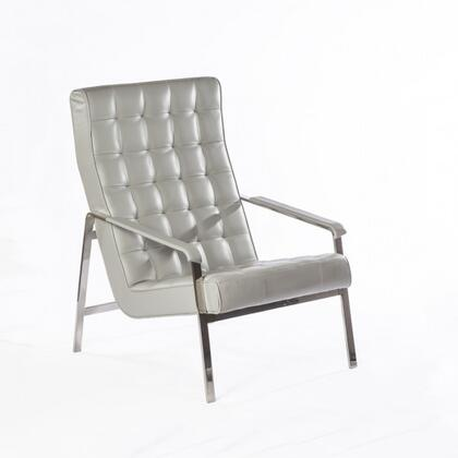 Eartha FEC6049GREY Lounge Chair with Button Tufted