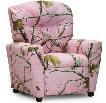 19611RTP Club Chair with Horizontal Top Backrest and Slightly Rounded Corners: Real Tree  inch Pink inch